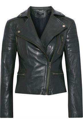 MUUBAA Quilted leather biker jacket