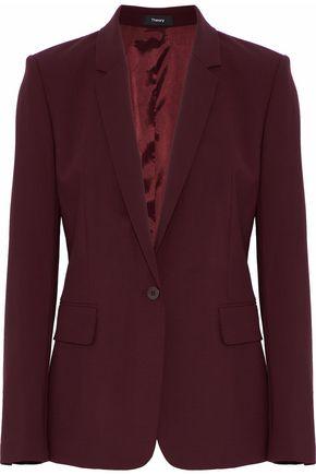 THEORY Wool-blend crepe blazer