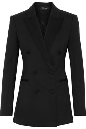 THEORY Double-breasted cady tuxedo jacket