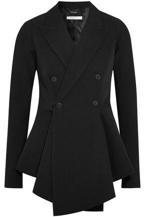 GIVENCHY Double-breasted pleated wool peplum jacket