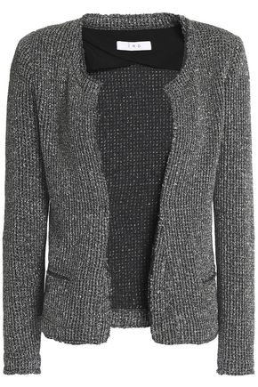 IRO Wallice metallic bouclé-knit jacket