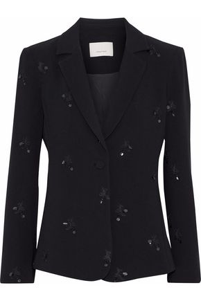WOMAN INEZ EMBELLISHED CREPE BLAZER BLACK