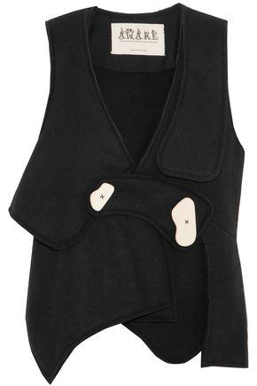 A.W.A.K.E. Asymmetric wool-blend felt vest