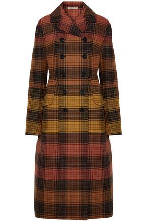 BOTTEGA VENETA Double-breasted checked wool coat