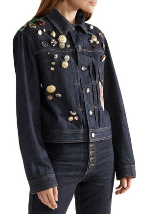 DOLCE & GABBANA Appliquéd denim jacket