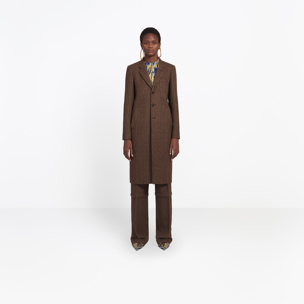 Shaped Single Breasted Coat