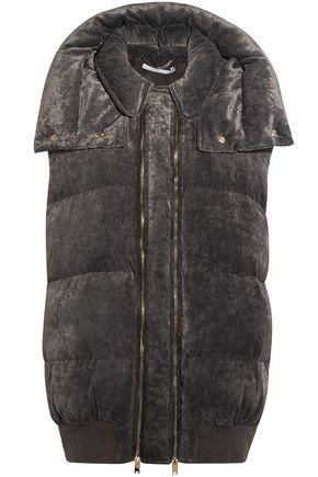 STELLA McCARTNEY Quilted velvet hooded vest