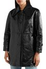 CHLOÉ Crinkled glossed-leather coat