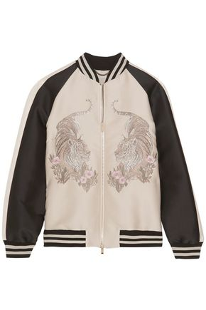 STELLA McCARTNEY Lorinda embroidered faille bomber jacket
