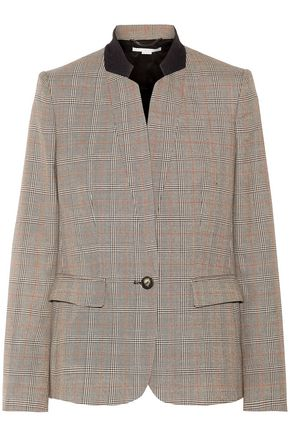 STELLA McCARTNEY Fleur Prince of Wales wool blazer
