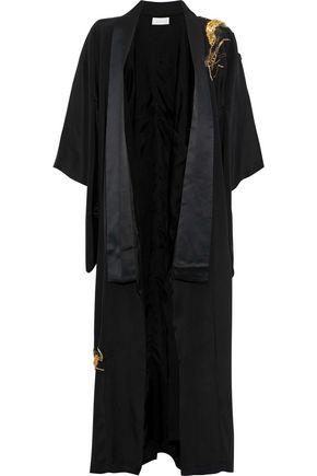 CAMILLA Embellished silk-satin jacket