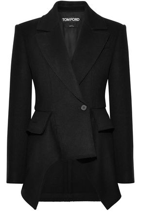 TOM FORD Wool and cashmere-blend peplum jacket