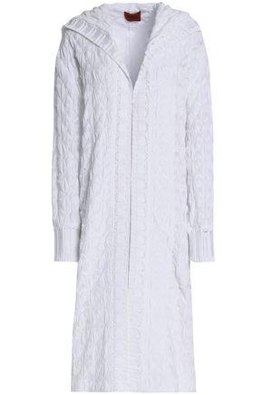MISSONI Crochet-knit cotton hooded cardigan