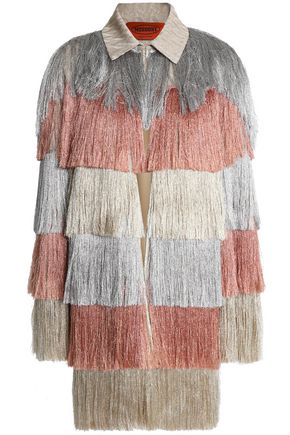 MISSONI Metallic fringe-trimmed jacquard jacket