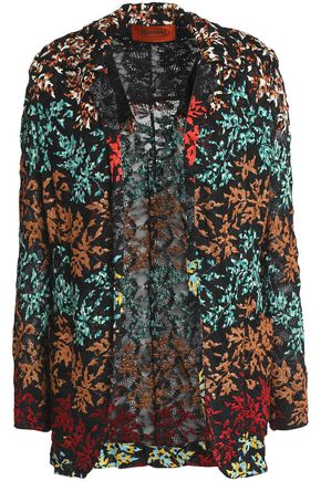 MISSONI Metallic embroidered crochet-knit jacket