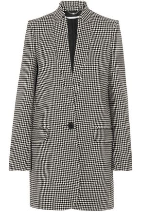 STELLA McCARTNEY Houndstooth wool-blend coat