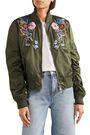 ALEXANDER MCQUEEN Embellished shell bomber jacket