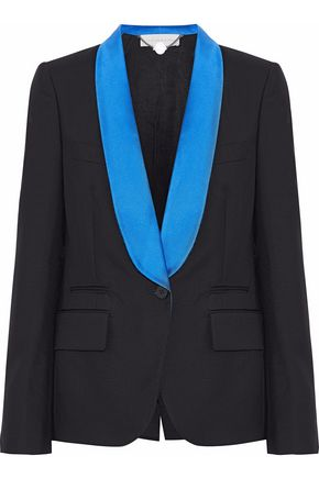 STELLA McCARTNEY Satin-trimmed wool and mohair-blend blazer