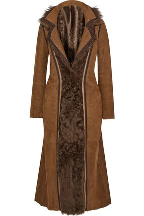 YVES SALOMON Reversible shearling and suede coat