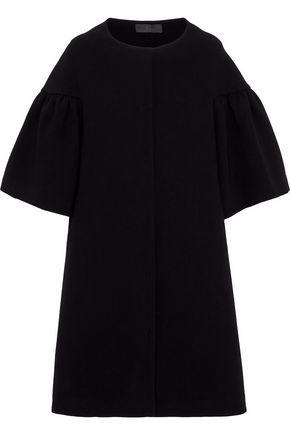 CO Gathered crepe coat