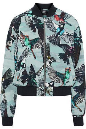 MARKUS LUPFER Printed crepe bomber jacket