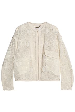 CHLOÉ Cotton-blend crocheted jacket