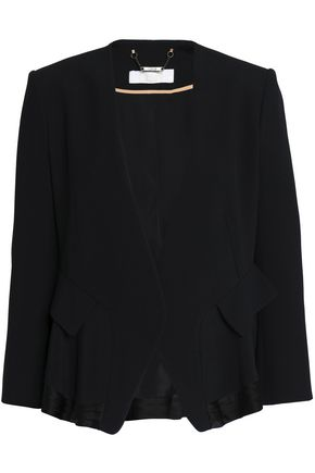 CHLOÉ Satin-trimmed crepe jacket