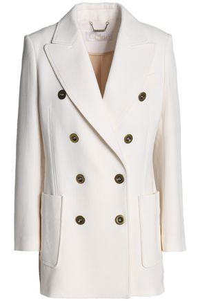 CHLOÉ Double-breasted wool-crepe jacket