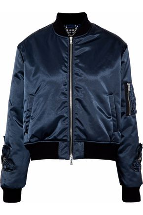 MARKUS LUPFER Crystal-embellished gabardine bomber jacket