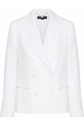 STELLA McCARTNEY Double-breasted faille-trimmed wool-twill blazer