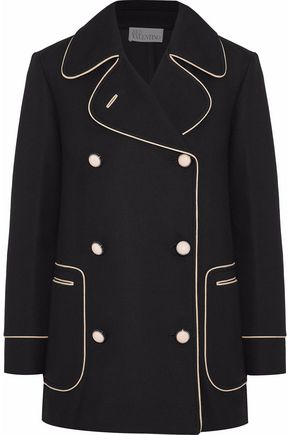REDValentino Double-breasted crepe jacket