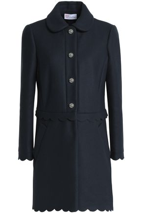 REDValentino Scalloped wool-blend twill coat
