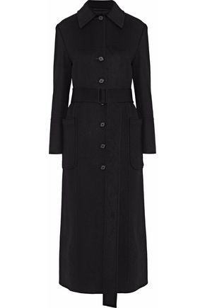 HELMUT LANG Mélange wool and cashmere-blend coat