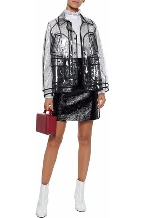 REDValentino Layered PVC and point d'esprit jacket