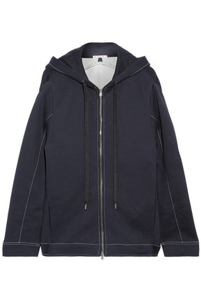 MARNI Oversized cotton-blend jersey hoodie