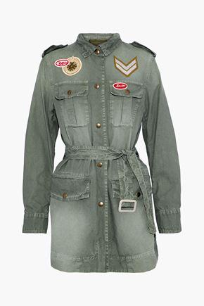 MR & MRS ITALY Appliquéd cotton-canvas jacket