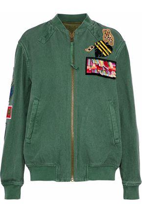 MR & MRS ITALY Embellished cotton-canvas bomber jacket