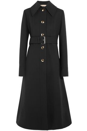 MARNI Belted crepe coat