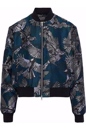 MARKUS LUPFER Charlotte jacquard bomber jacket