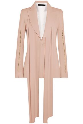 ELIE SAAB Pussy-bow bead-trimmed crepe blazer