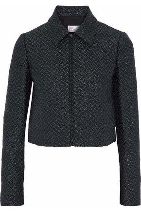 REDValentino Tinseled jacquard-knit jacket