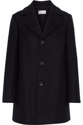 REDValentino Gathered wool-blend coat
