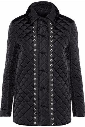 REDValentino Eyelet-embellished quilted shell jacket