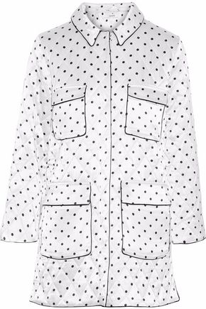 GANNI Polka-dot satin jacket