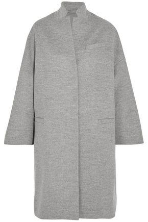 BRUNELLO CUCINELLI Bead-embellished wool and cashmere-blend coat