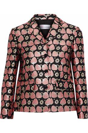 REDValentino Metallic brocade blazer