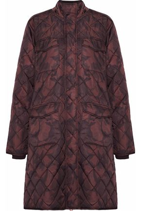 GANNI Vandalia quilted printed shell coat
