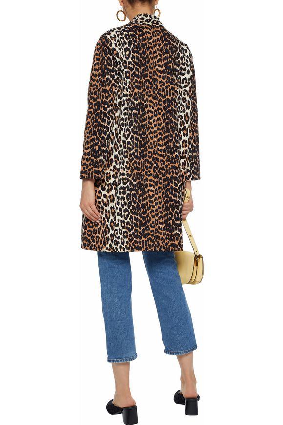 5945a8b8f984 Leopard-print cotton-twill jacket | GANNI | Sale up to 70% off | THE ...