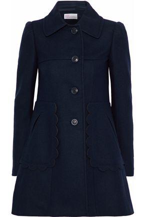 REDValentino Scalloped wool-blend coat