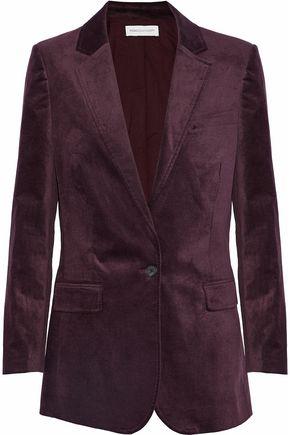 REBECCA MINKOFF Merilee cotton-blend velvet blazer